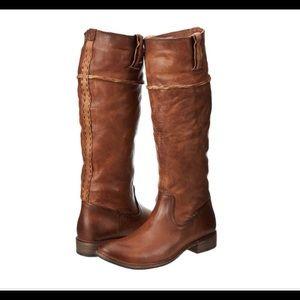 FRYE Women's Artisan Shirley Tall Boots Whiskey 8M